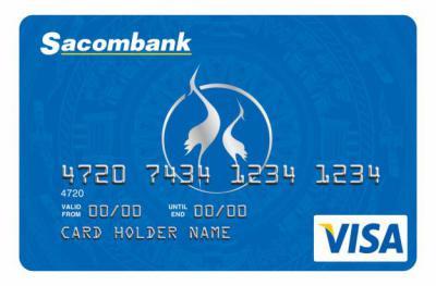 Thẻ tín dụng quốc tế Sacombank Visa