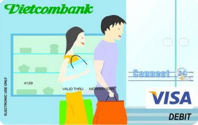 Thẻ ghị nợ quốc tế visa vietcoambank