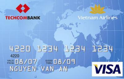 Thẻ thanh toán quốc tế Techcombank Visa