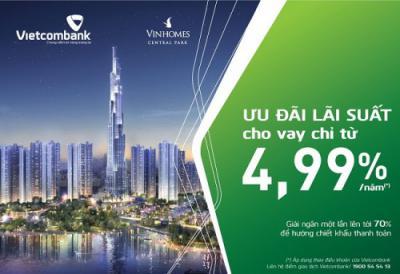 Vay mua nhà Vietcombank với lãi suất ưu đãi chỉ từ 4,99%/năm
