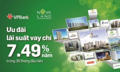 Ngân hàng VPBank cho vay tối đa 85% giá trị căn hộ dự án Novaland
